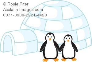 Clip art illustration of. Igloo clipart