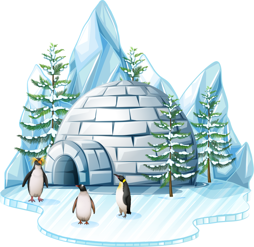 Igloo clipart arctic region. Chillout ice lounge middle