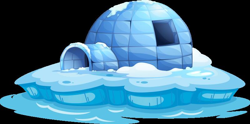 Cartoon stock illustration. Igloo clipart arctic