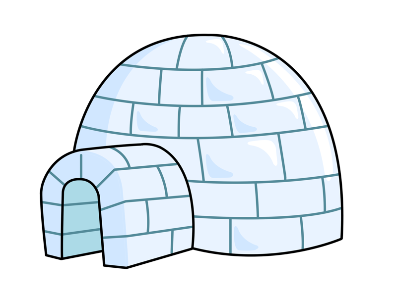 Pictures cliparts co image. Igloo clipart cute