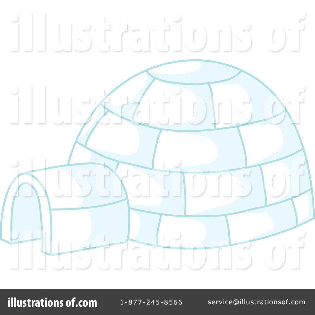 Igloo clipart diagram. Illustration by rosie piter