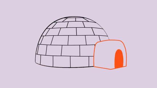 igloo clipart diagram