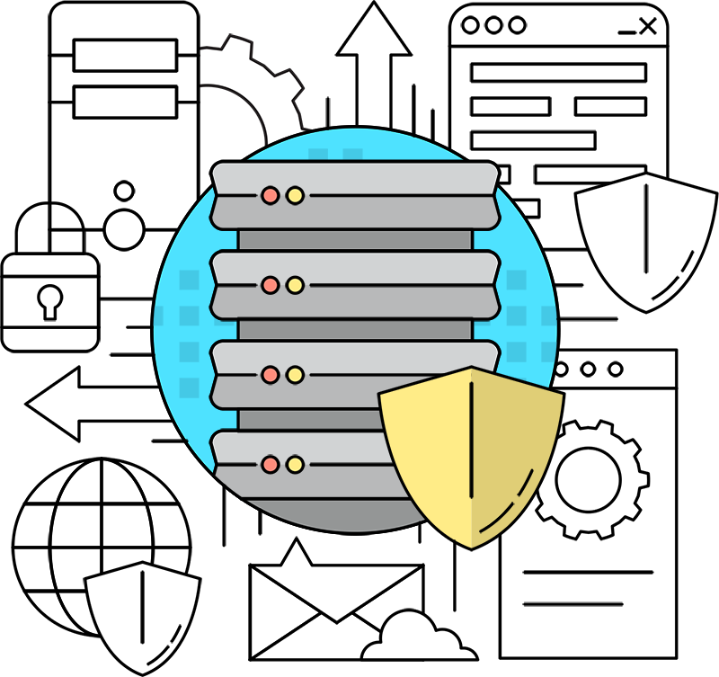 Outsourcing automation self hosting. Igloo clipart diagram
