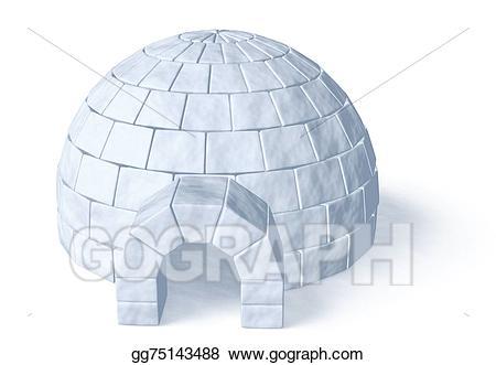 Stock illustration icehouse on. Igloo clipart ice house