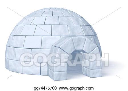 Igloo clipart ice house. Stock illustration icehouse on