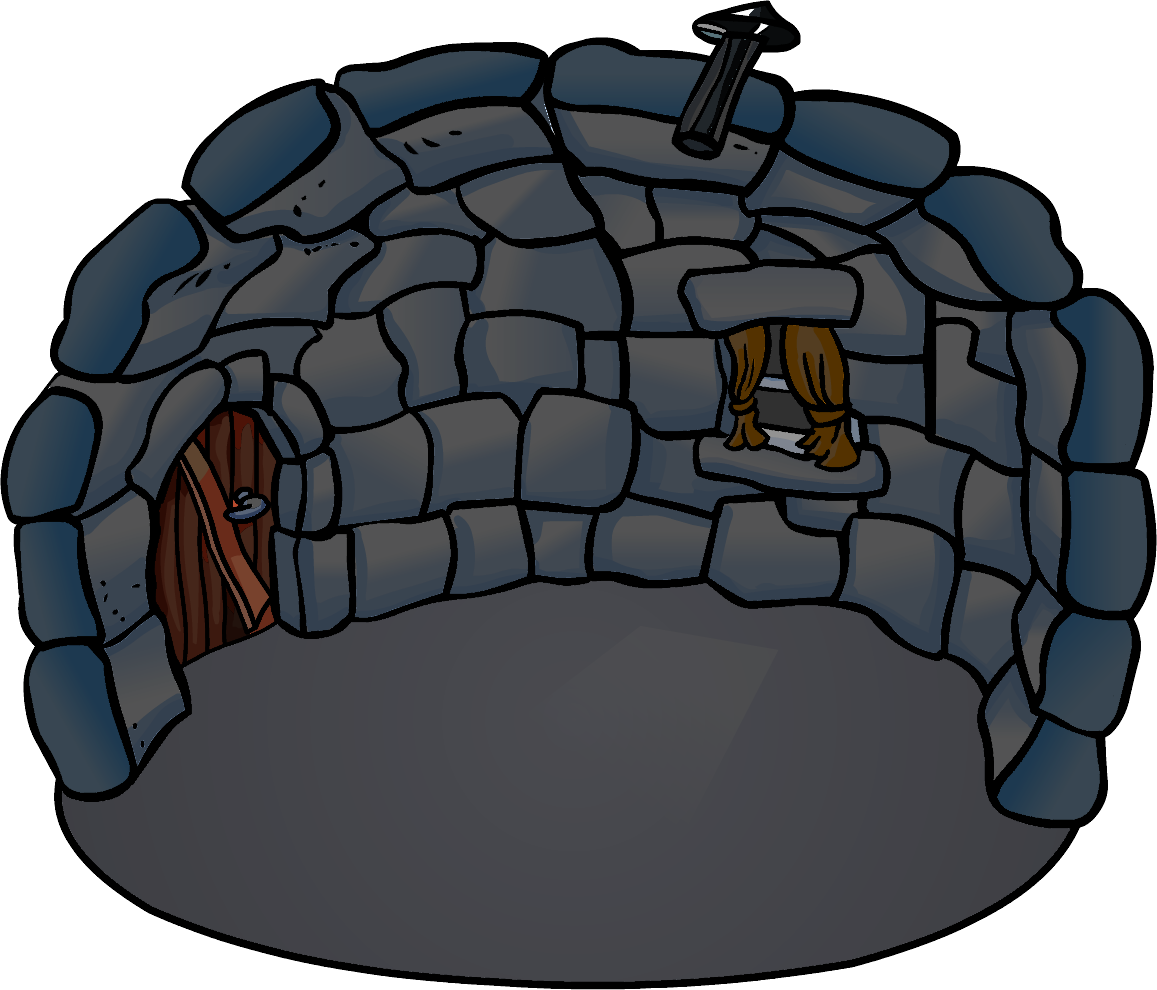 Image blackout png club. Igloo clipart man