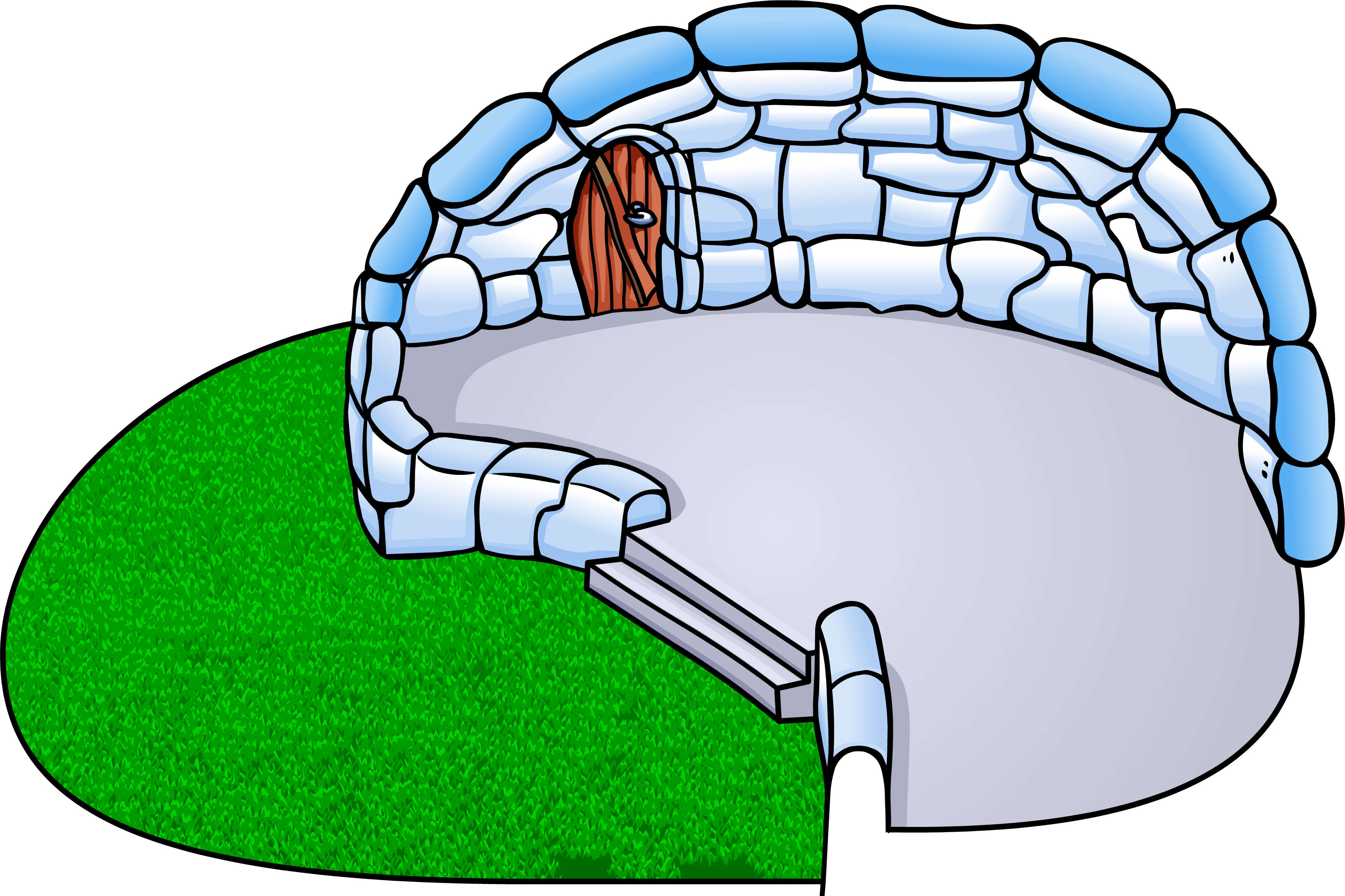 Backyard club penguin rewritten. Igloo clipart real