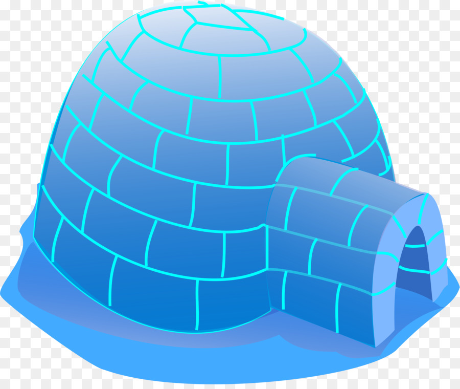 Blue circle product cap. Igloo clipart real