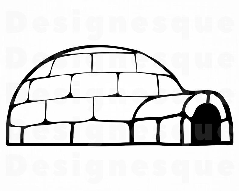 Svg files for cricut. Igloo clipart real