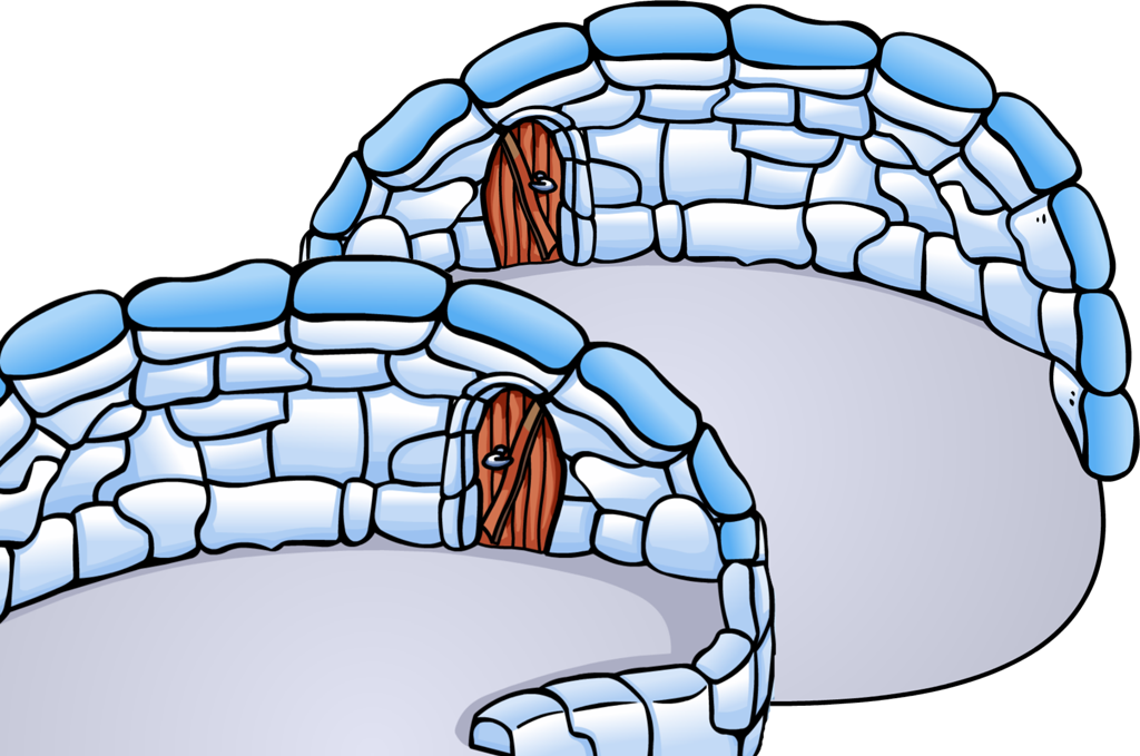Igloo clipart transparent background. Black and white library