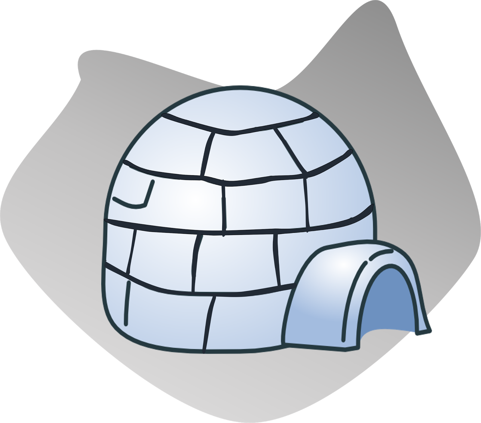 Igloo clipart transparent background.  collection of high