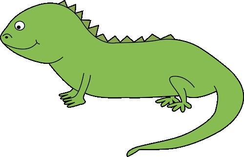 Iguana clipart. Cute