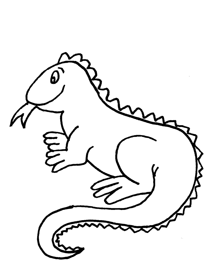 Iguana clipart black and white. Free download clip art