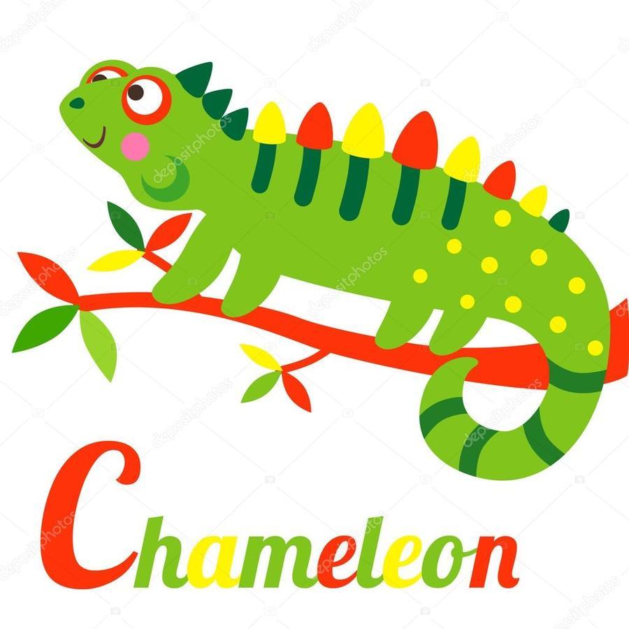Iguana clipart downloadable. Download caricatura chameleons green