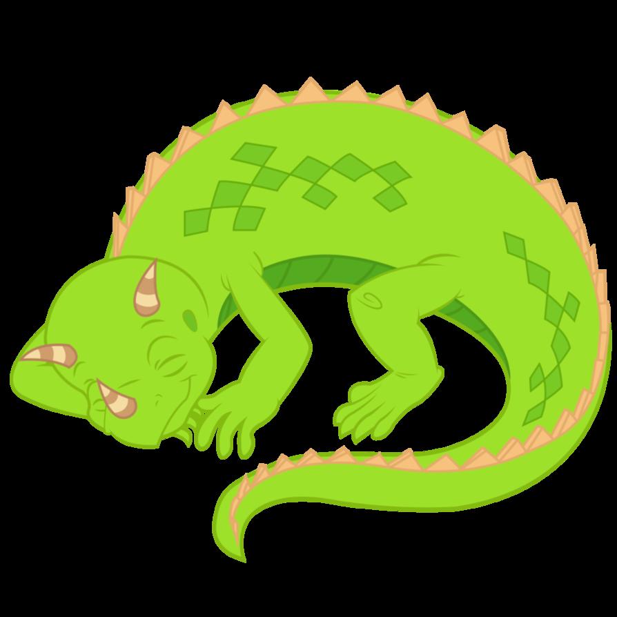 Liz sleeping by dabestpony. Lizard clipart iguana