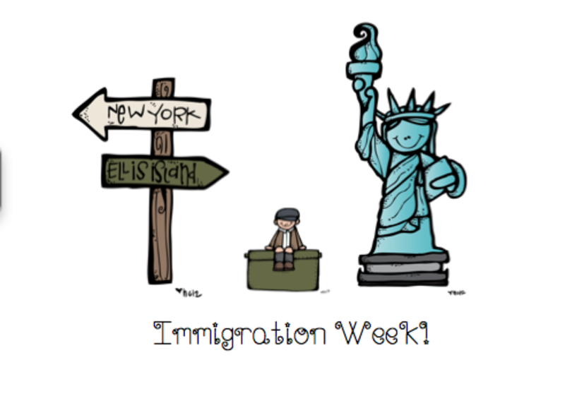 Third grade lesson week. Immigration clipart prior