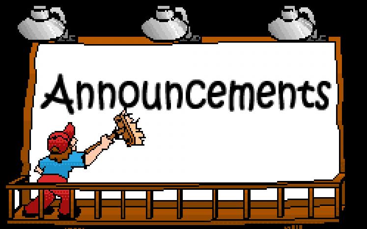 Announcement clipart announcement board.  announcements anouncement huge