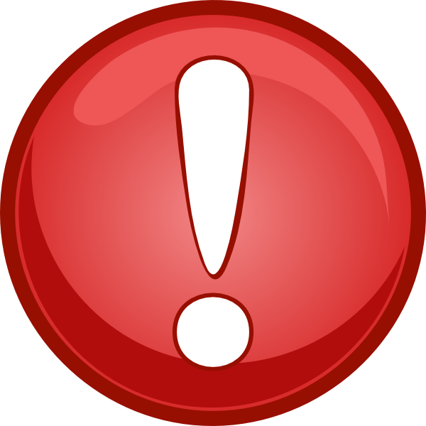 Alert red clip art. R clipart icon