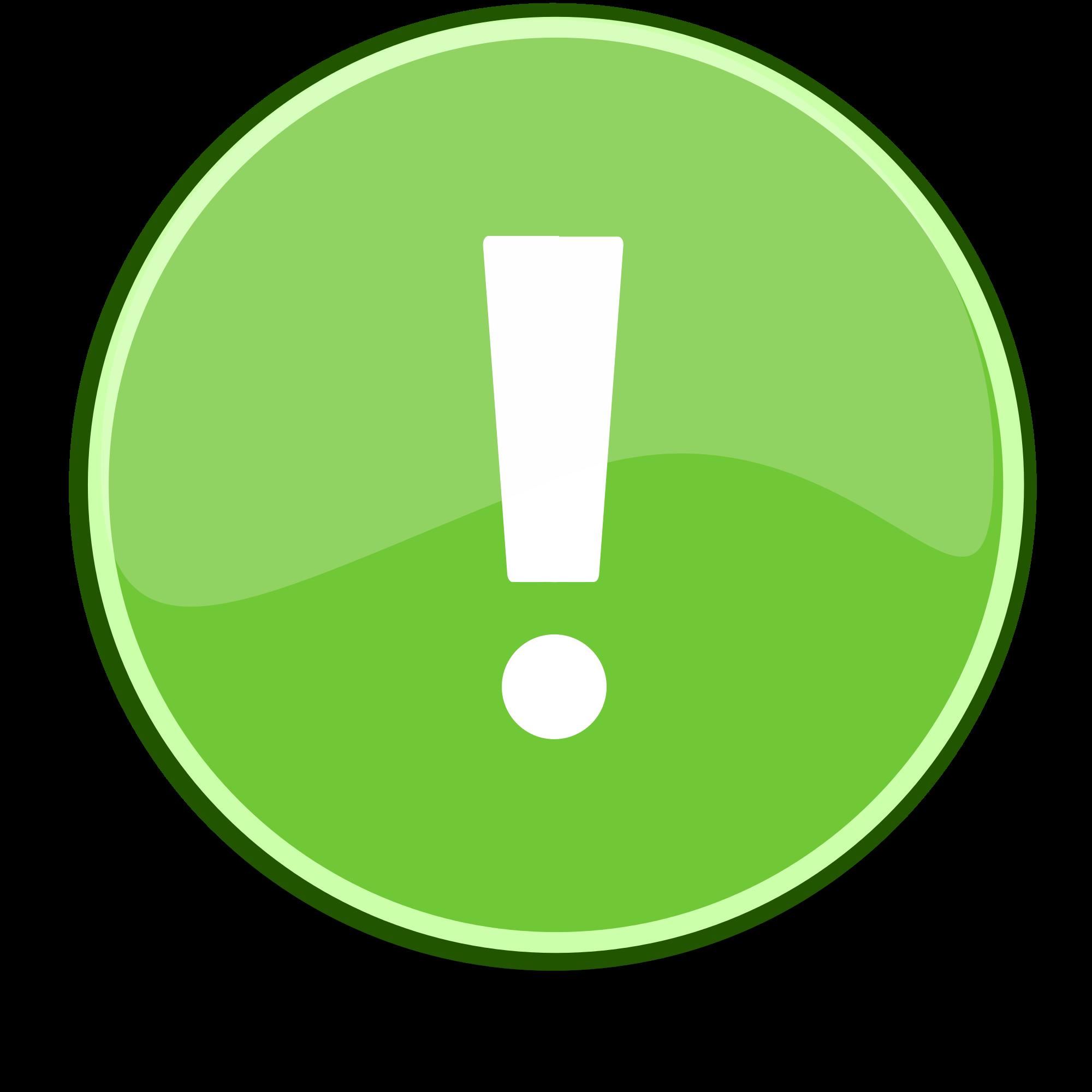 File emblem green svg. Important clipart explanation mark