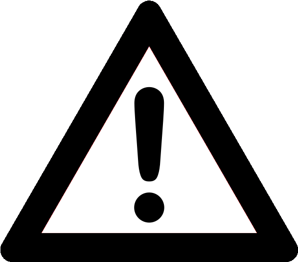 Exclamation png warning icon. Important clipart explanation mark