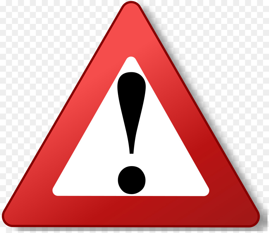 Exclamation sign red triangle. Important clipart explanation mark
