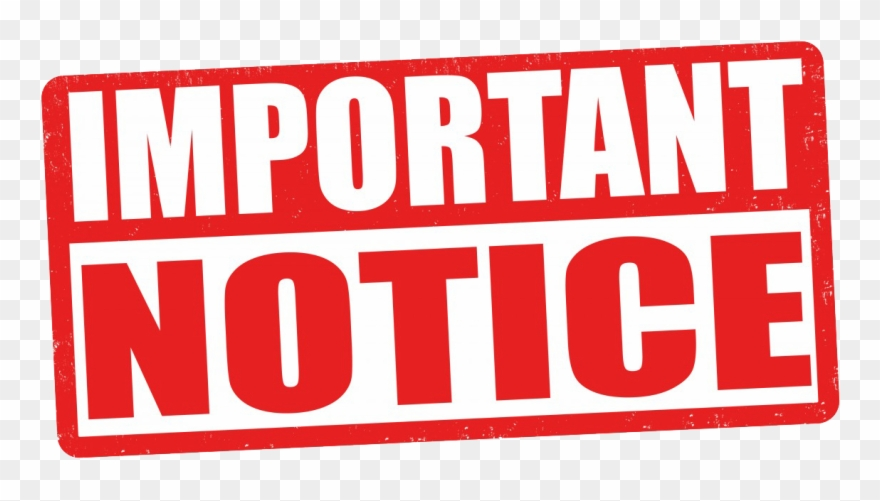 Important clipart important info. Notice clip art information