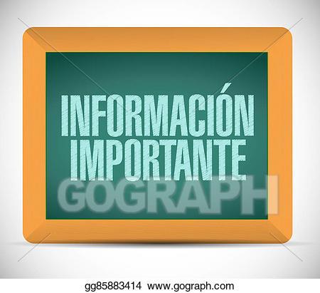Stock illustration information chalkboard. Important clipart important info