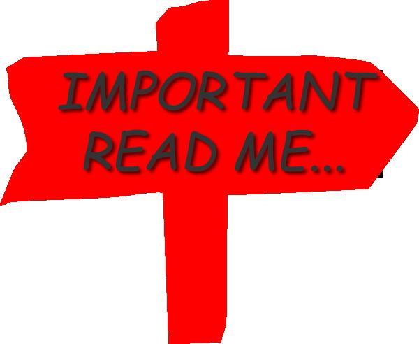 Regarding dama . Important clipart important information