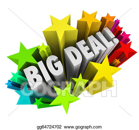 Stock illustration big deal. Important clipart important news