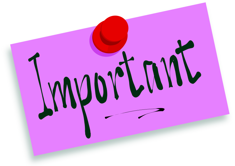 Important clipart important news. Information message pencil and