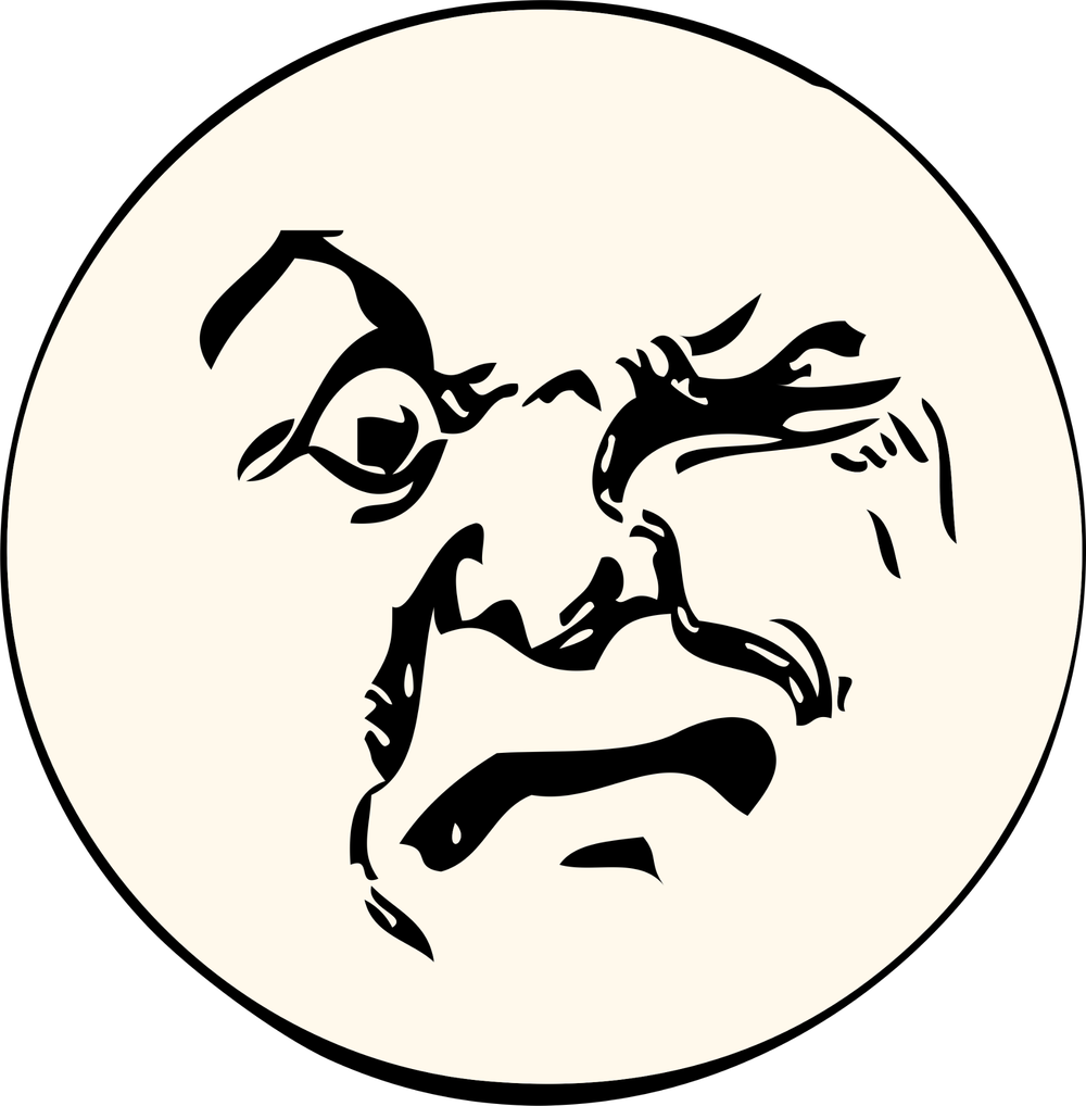 Wonders of the moon. Important clipart interesting face