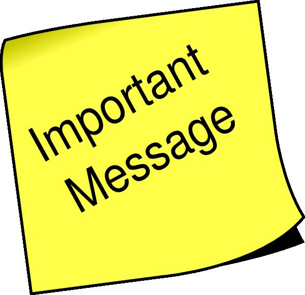 Important clipart public notice. Note message clip art