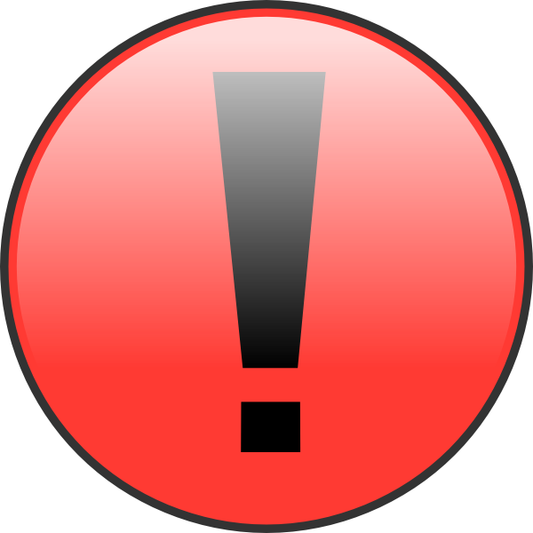 Important clipart warning. Button clip art at
