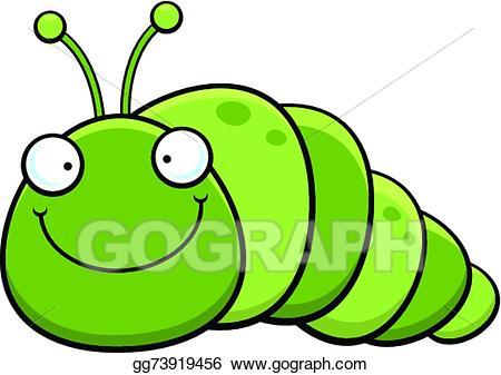 Vector stock cartoon inch. Inchworm clipart