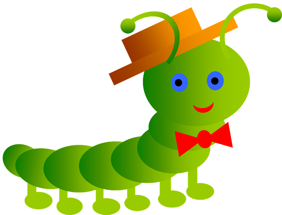 Worm clipart red worm. Free photo antenna inchworm