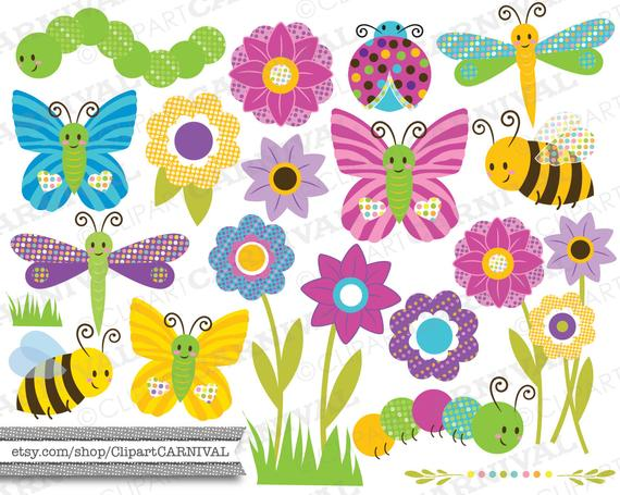 Inchworm clipart gardener. Instant download digital clip