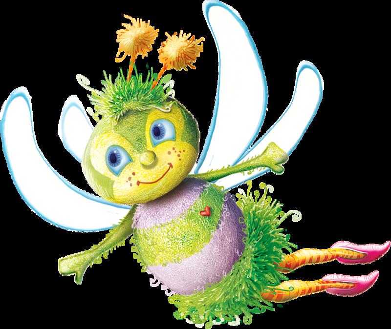 Baby bee garden snail. Inchworm clipart gardener