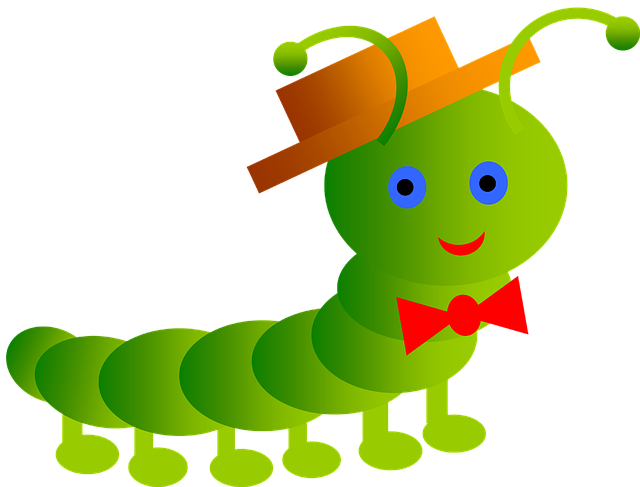 Inchworm short free on. Worm clipart butterfly