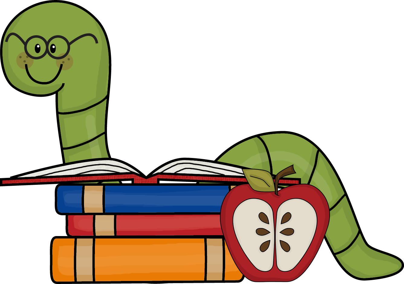 Inchworm clipart wiggle worm. Short cliparts zone book
