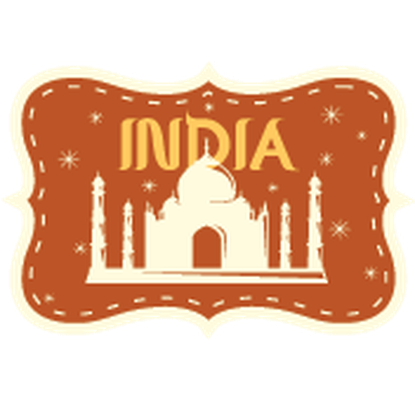 India clipart. Travel labels or badges