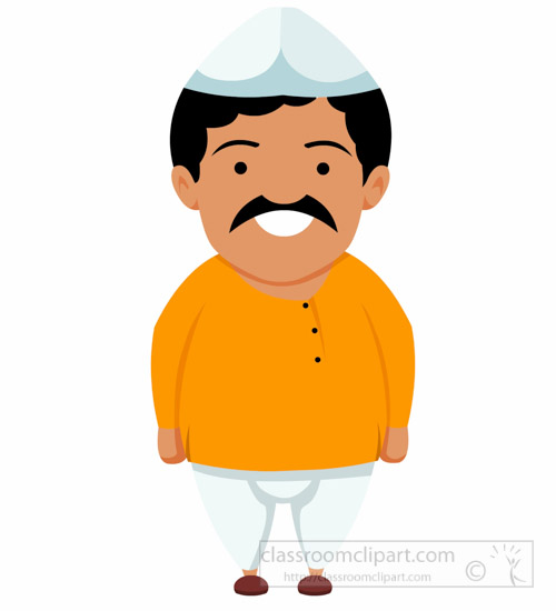 Asia indian man wearing. India clipart