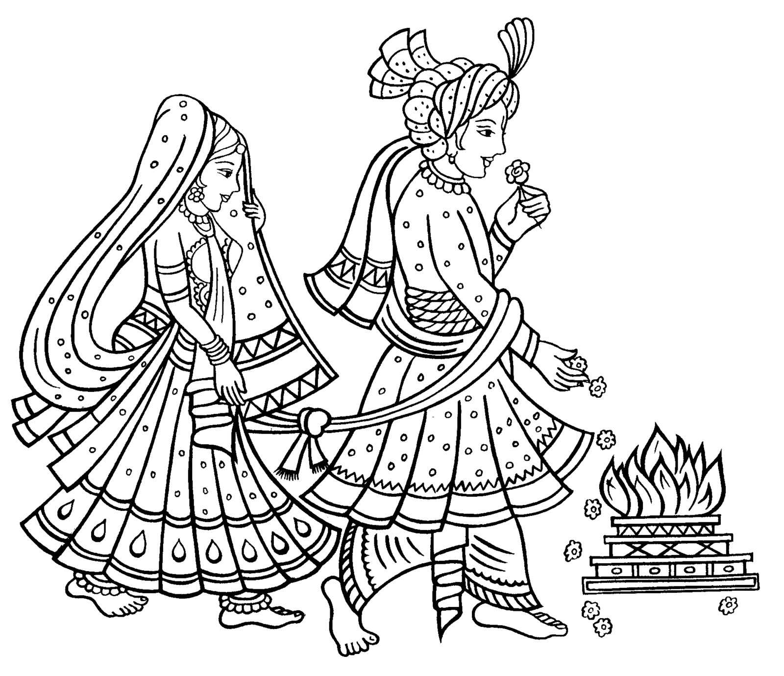 India clipart. Shadi pencil and in