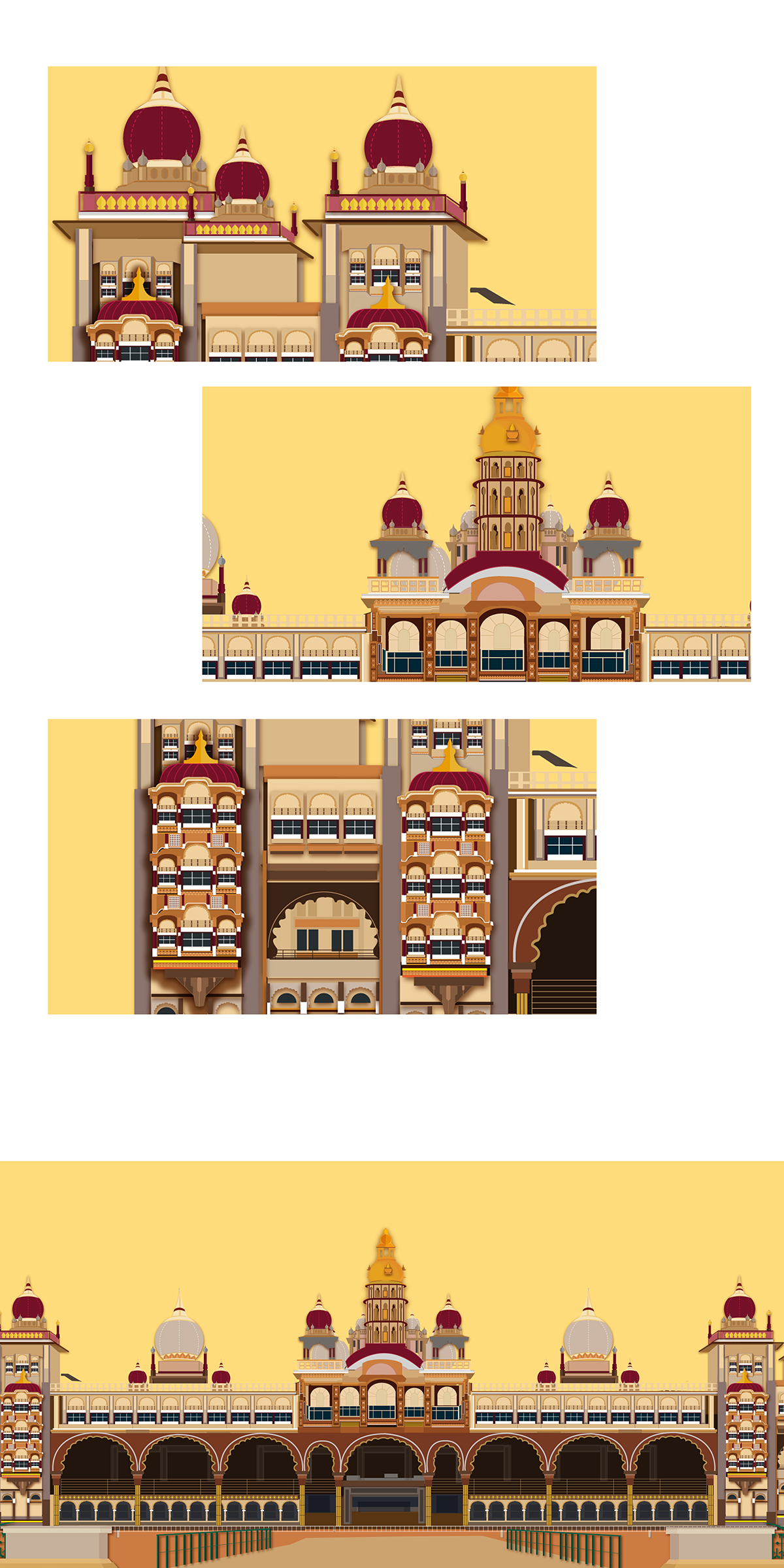 Mysore on behance . Palace clipart palace garden