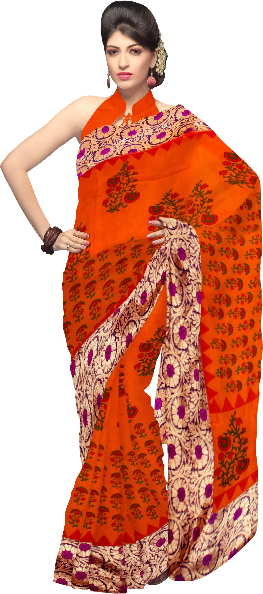 India clipart clothes. Woman in saree big