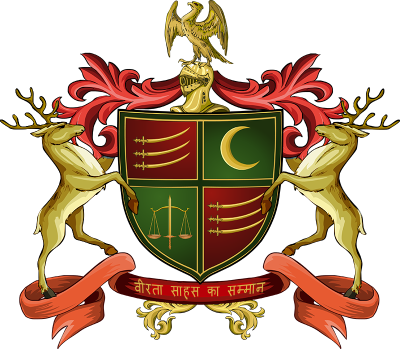 India clipart emblem. Coat of arms and