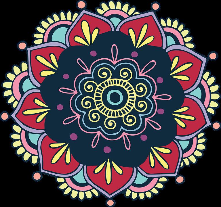 Free image on pixabay. Mandala clipart rangoli