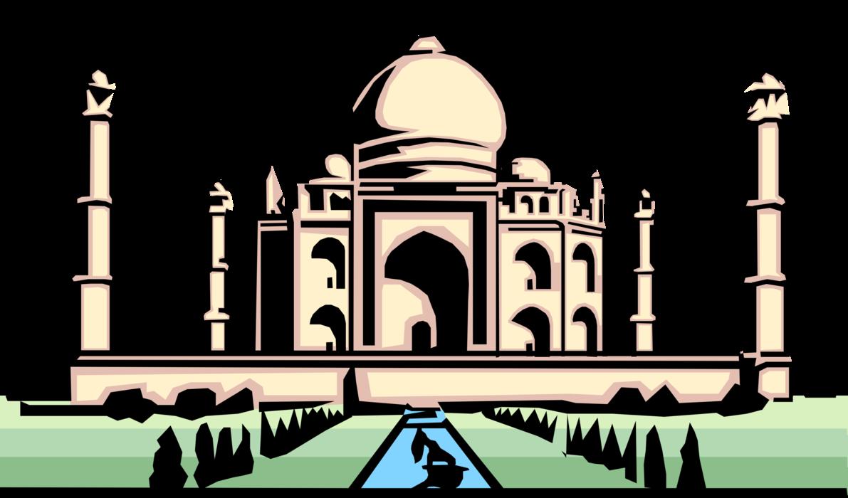 Marbles clipart vector. Taj mahal mausoleum agra