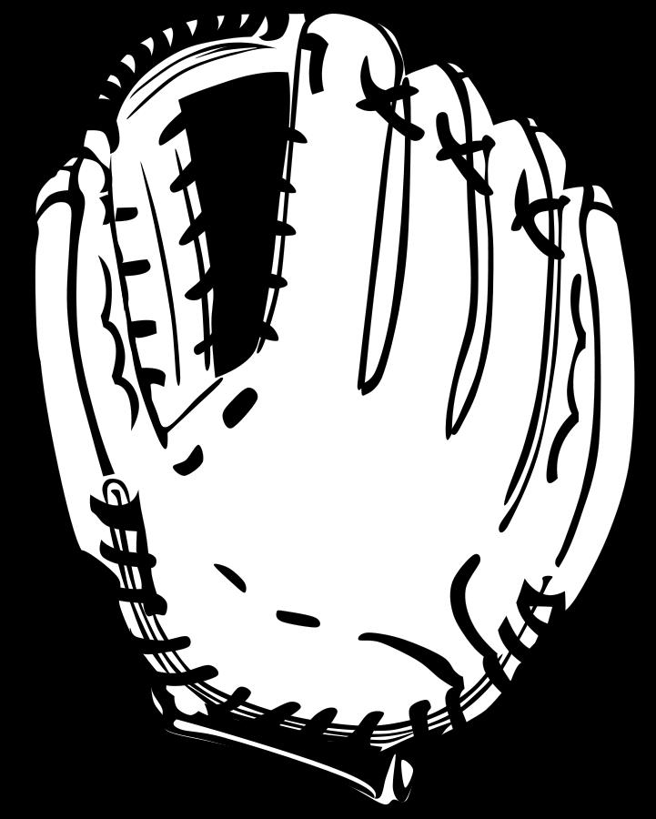 Free baseball vector art. Glove clipart file