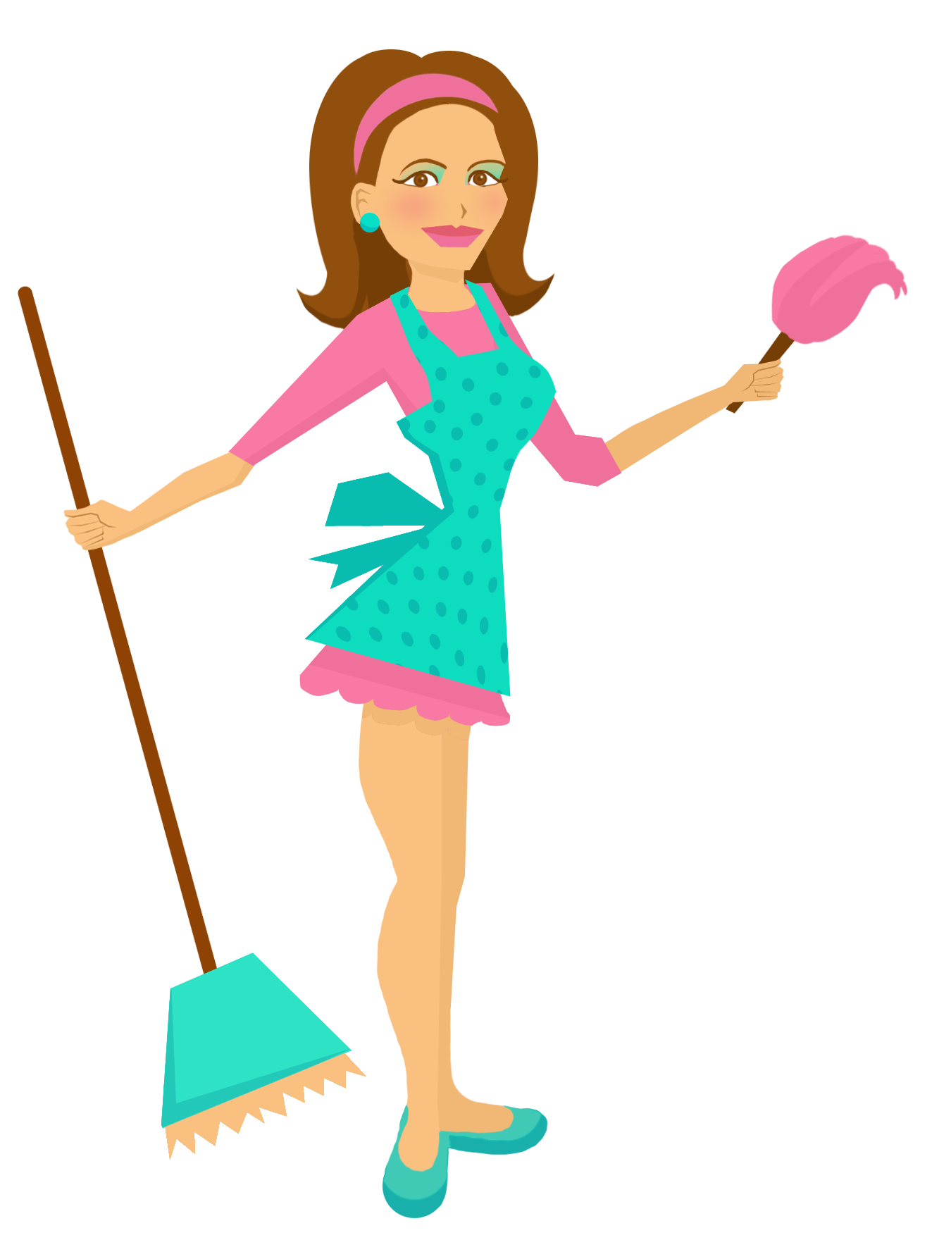 Maid clipart vector. Illustration