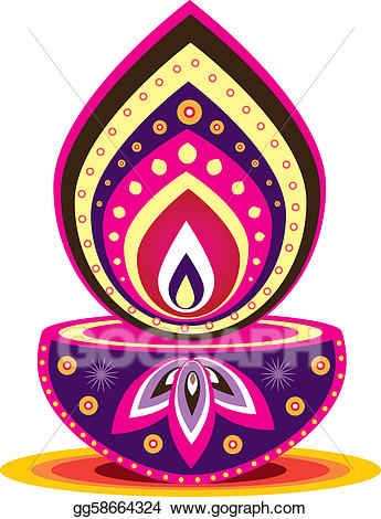 Vector illustration eps gg. Lamp clipart indian oil